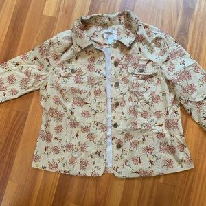 Christopher & Banks petite cherry blossom jacket